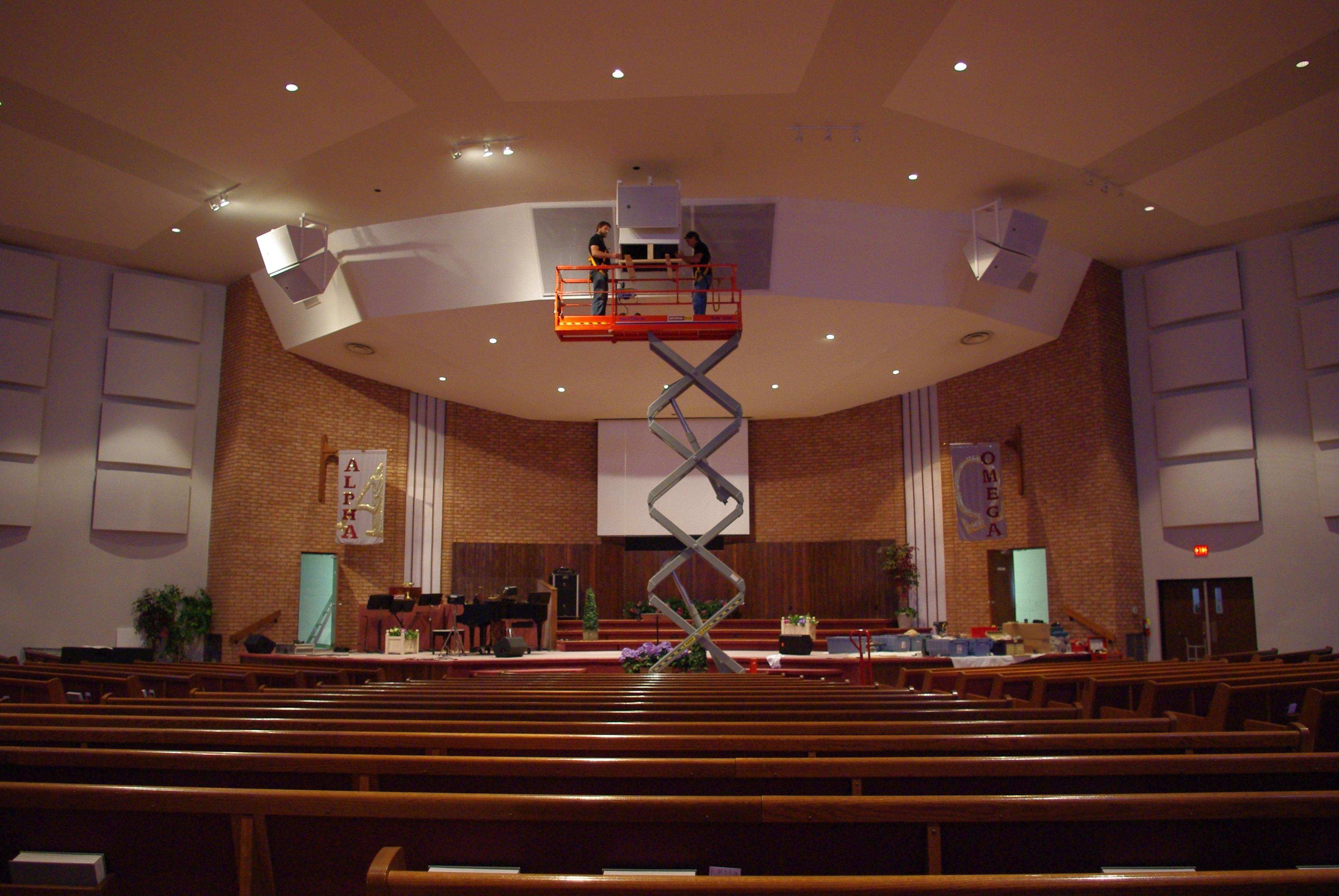 Church Sound - Speaker Installation At Community Pentecostal Church Ottawa